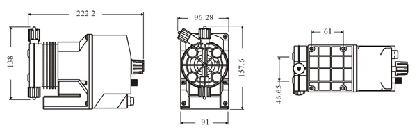 意大利爱米克(emec) 电磁式计量泵 k系列,1~18升/时  压力流量表